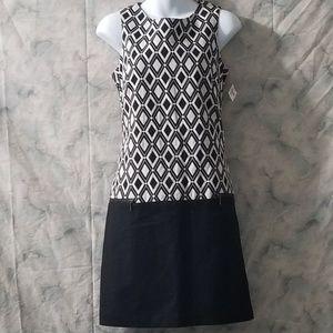 NWT Worthington black diamond sleeveless dress 6